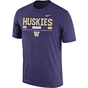 Nike Men's Washington Huskies Purple Football Staff Legend T-Shirt