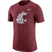 Nike Men's Washington State Cougars Crimson Marled Logo T-Shirt