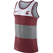 Nike Men's Washington State Cougars White/Crimson/Grey Wide Stripe Dri-Blend Tank