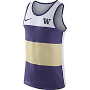 Nike Men's Washington Huskies White/Purple/Gold Wide Stripe Dri-Blend Tank