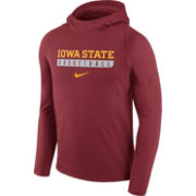 Nike Men's Iowa State Cyclones Cardinal Basketball Performance Hoodie