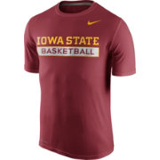 Nike Men's Iowa State Cyclones Cardinal Basketball Practice T-Shirt