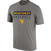 Nike Men's West Virginia Mountaineers Grey Team Issue Legend Baseball T-Shirt