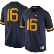 Nike Men's West Virginia Mountaineers #16 Blue Game Football Jersey