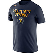 Nike Men's West Virginia Mountaineers Blue Basketball T-Shirt
