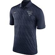 Nike Men's West Virginia Mountaineers Blue Dry Stadium Polo