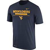 Nike Men's West Virginia Mountaineers Blue Football Staff Legend T-Shirt