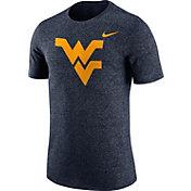 Nike Men's West Virginia Mountaineers Blue Marled Logo T-Shirt