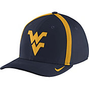 Nike Men's West Virginia Mountaineers Blue Aerobill Swoosh Flex Classic99 Football Sideline Hat
