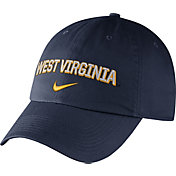Nike Men's West Virginia Mountaineers Blue Heritage86 Wordmark Swoosh Flex Hat