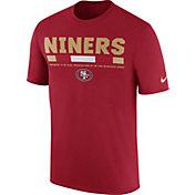 Nike Men's San Francisco 49ers Sideline 2017 Legend Staff Performance Red T-Shirt
