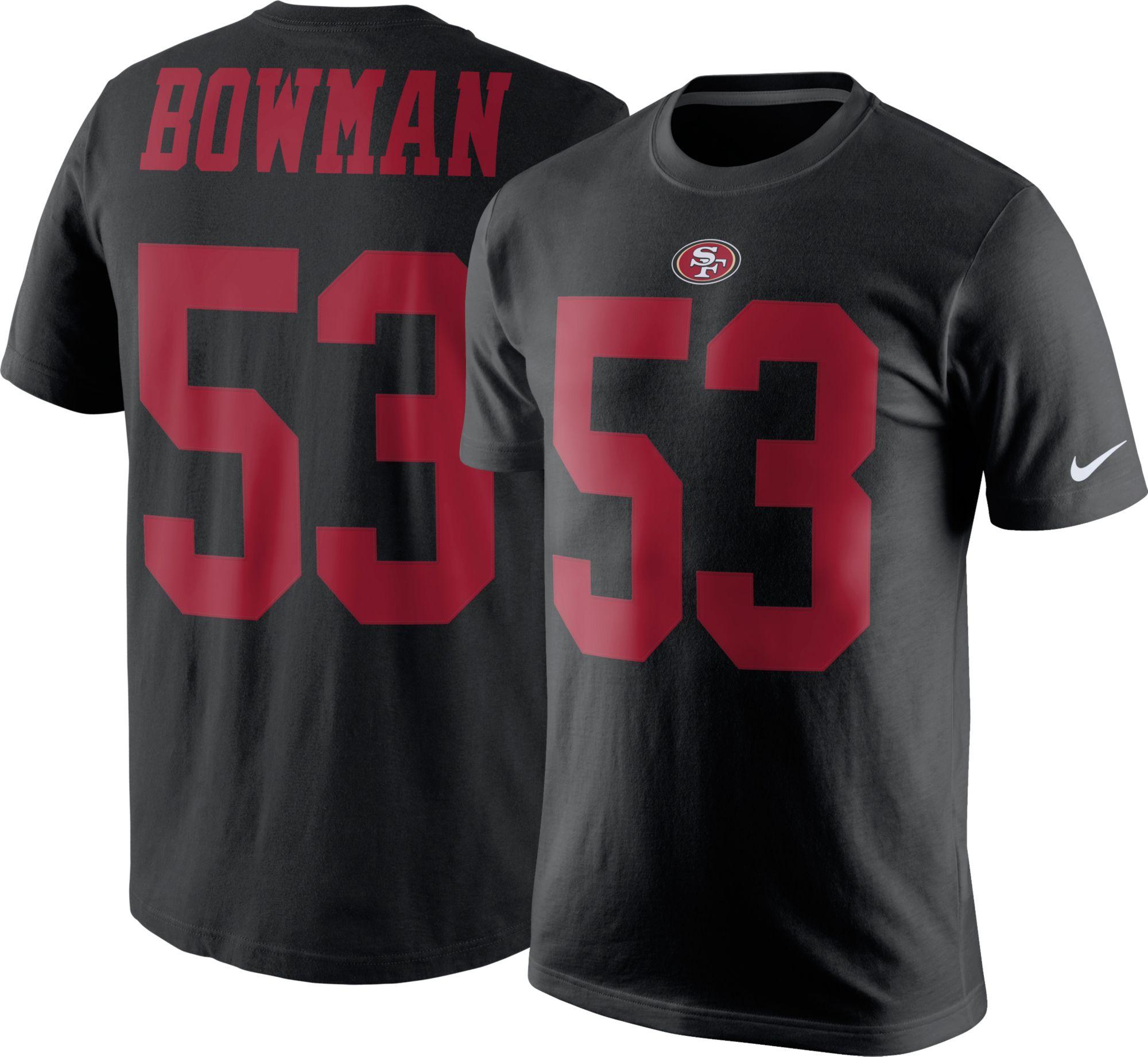 product image · nike mens san francisco 49ers navorro bowman 53 pride black t shirt