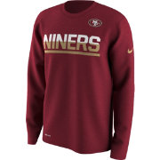 Nike Men's San Francisco 49ers Team Practice Performance Red Long Sleeve Shirt