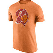 Nike Men's Tampa Bay Buccaneers Tri-Blend Historic Logo Orange T-Shirt