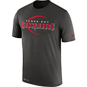 Nike Men's Tampa Bay Buccaneers Legend Football Icon Performance Pewter T-Shirt