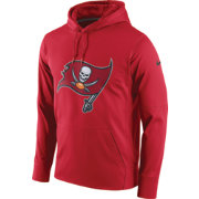 Nike Men's Tampa Bay Buccaneers Performance Circuit Logo Essential Red Hoodie
