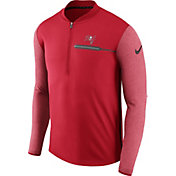 Nike Men's Tampa Bay Buccaneers Sideline 2017 Coaches Red Half-Zip Top