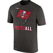 Nike Men's Tampa Bay Buccaneers Sideline 2017 Legend Football Performance Pewter T-Shirt