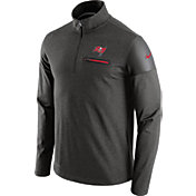 Nike Men's Tampa Bay Buccaneers Sideline 2016 Elite Coaches Quarter-Zip Pewter Pullover
