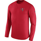 Nike Men's Tampa Bay Buccaneers Sideline 2017 Modern Crew Red Long Sleeve Top