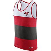 Nike Men's Tampa Bay Buccaneers Wide Stripe Performance Red Tank Top