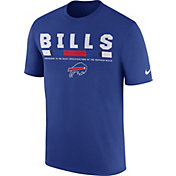 Nike Men's Buffalo Bills Sideline 2017 Legend Staff Performance Royal T-Shirt