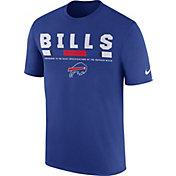 Nike Men's Buffalo Bills Sideline 2017 Legend Staff Performance Royal T-Shirt