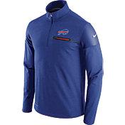 Nike Men's Buffalo Bills Sideline 2016 Elite Coaches Quarter-Zip Royal Pullover