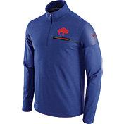 Nike Men's Buffalo Bills Sideline 2016 Elite Coaches Throwback Royal Quarter-Zip Pullover