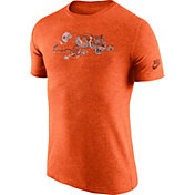Nike Men's Cincinnati Bengals Tri-Blend Historic Logo Orange T-Shirt
