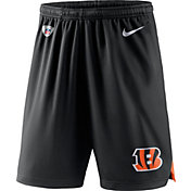 Nike Men's Cincinnati Bengals Dry Knit Black Performance Shorts