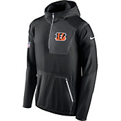 Nike Men's Cincinnati Bengals Sideline 2016 Alpha Fly Rush Black Jacket