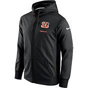 Nike Men's Cincinnati Bengals Sideline 2017 Therma-FIT Full-Zip Black Hoodie