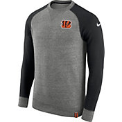 Nike Men's Cincinnati Bengals AW77 Carbon Heather Crew Top