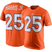 Nike Men's Denver Broncos Chris Harris Jr. #25 Pride Orange T-Shirt