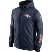 Nike Men's Denver Broncos Sideline 2016 Circuit Navy Full-Zip Hoodie