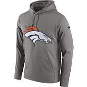Nike Men's Denver Broncos Circuit Logo Grey Pullover Hoodie