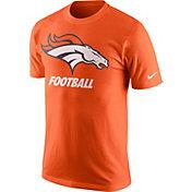 Nike Men's Denver Broncos Facility Orange T-Shirt