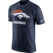 Nike Men's Denver Broncos Facility Navy T-Shirt