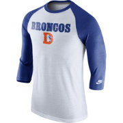 Nike Men's Denver Broncos Tri-Blend Historic Raglan White/Royal T-Shirt