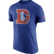 Nike Men's Denver Broncos Tri-Blend Historic Logo Royal T-Shirt
