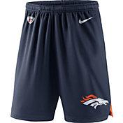 Nike Men's Denver Broncos Dry Knit Navy Performance Shorts