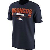 Nike Men's Denver Broncos Sideline 2017 Legend Staff Performance Navy T-Shirt