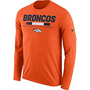 Nike Men's Denver Broncos Legend Staff Orange Long Sleeve Performance Shirt