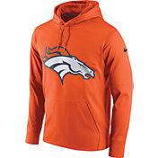 Nike Men's Denver Broncos Performance Circuit Logo Essential Orange Hoodie