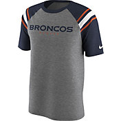 Nike Men's Denver Broncos Enzyme Shoulder Stripe T-Shirt