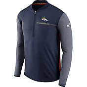 Nike Men's Denver Broncos Sideline 2017 Coaches Navy Half-Zip Top