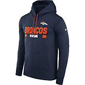 Nike Men's Denver Broncos Sideline 2017 Therma-FIT Navy Performance Hoodie