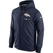 Nike Men's Denver Broncos Sideline 2017 Therma-FIT Full-Zip Navy Hoodie