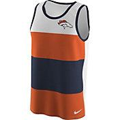 Nike Men's Denver Broncos Wide Stripe Performance Navy Tank Top